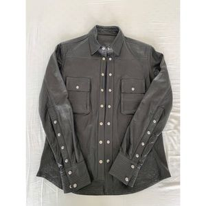 Authentic Chrome Hearts Leather Shirt